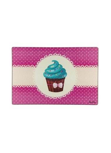 Cam Cupcake Des. Kesme Tahtası 30X20Cm-Tantitoni